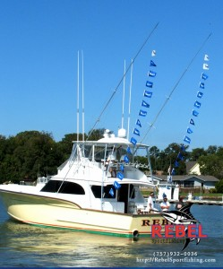 Rebel Displaying White Marlin Flags