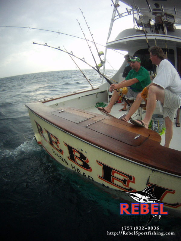 Exterior photo gallery rebel best offshore fishing boat for Virginia beach charter fishing