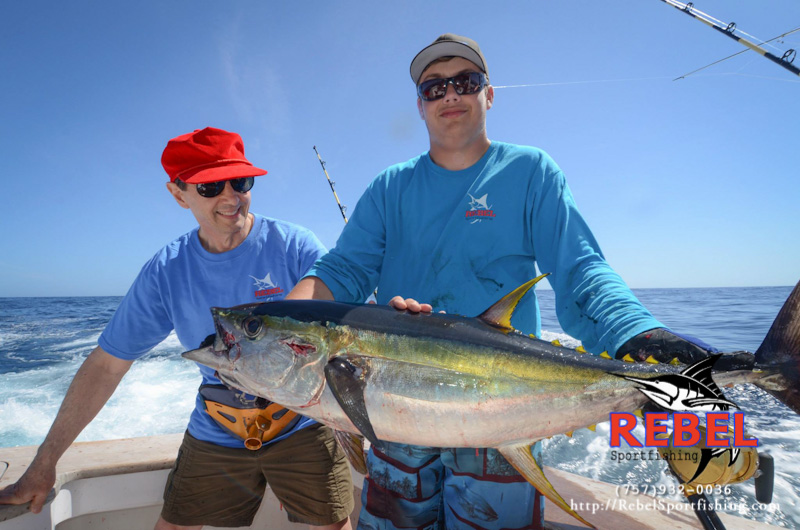 Fishing photos yellowfin tuna va beach fishing charter boat for Tuna fishing video